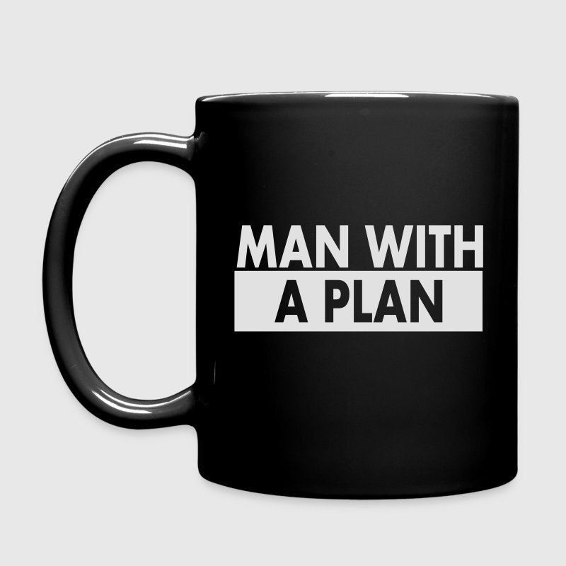 Man with a plan wht Mugs & Drinkware - Full Colour Mug