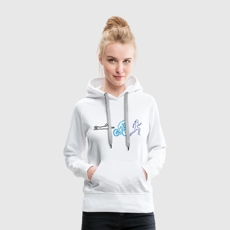 triathlon - woman Sweat-shirts - Sweat-shirt à capuche Premium pour femmes