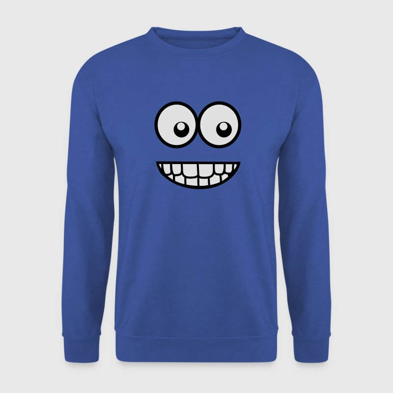 Lustiges Comic Gesicht (Witzig) / Smiley Pullover & Hoodies - Männer Pullover