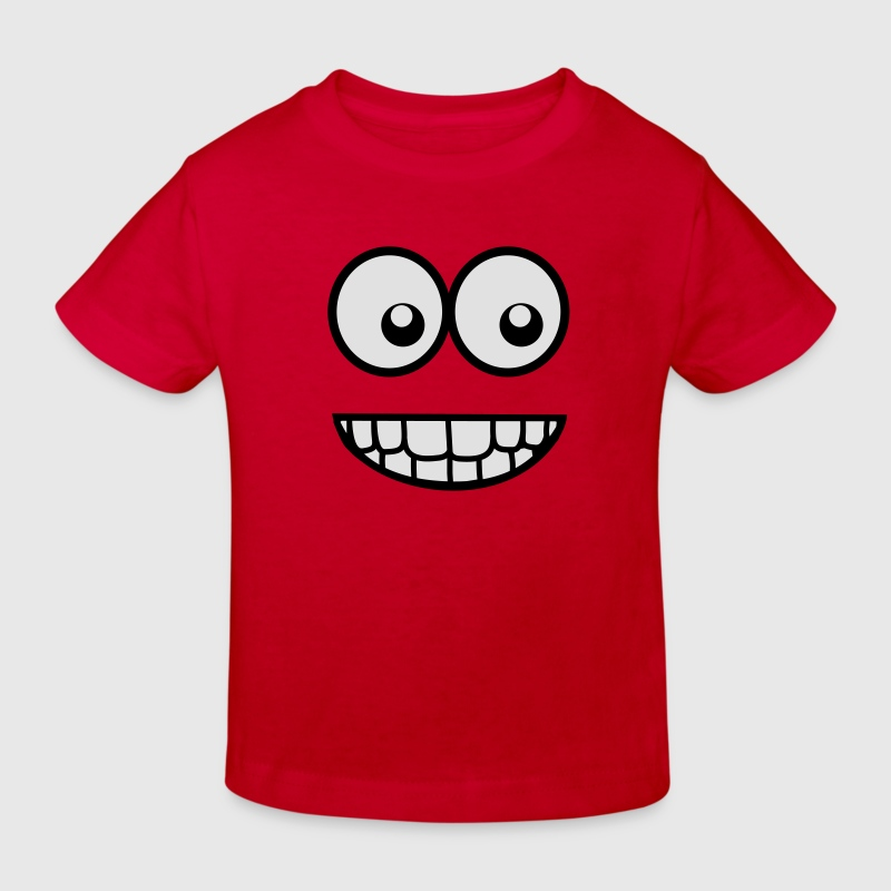 Funny Comic Face (Crazy & Cool) - Smiley Shirts - Kids' Organic T-shirt