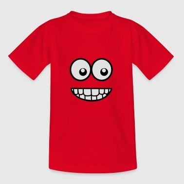 Funny Comic Face (Crazy & Cool) - Smiley Shirts - Teenage T-shirt