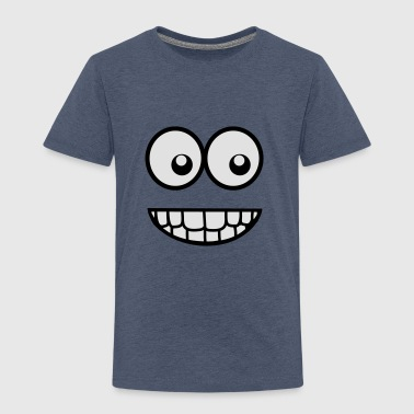 Funny Comic Face (Crazy & Cool) - Smiley Shirts - Kids' Premium T-Shirt