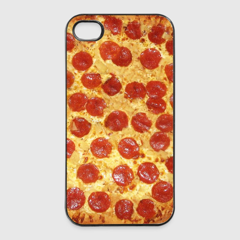 Salami Pizza Muster mit extra Käse - Handy Case Handy & Tablet Hüllen - iPhone 4/4s Hard Case