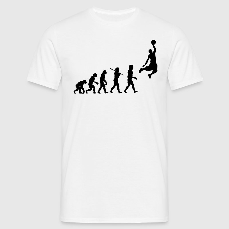 Basketball Dunk Evolution - Men's T-Shirt