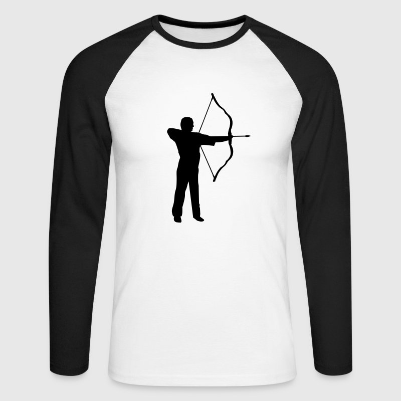 archery, archer Long sleeve shirts - Men's Long Sleeve Baseball T-Shirt