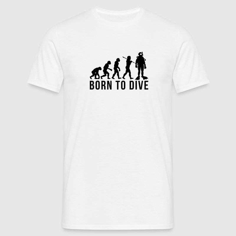 scuba diver evolution born to dive - Men's T-Shirt