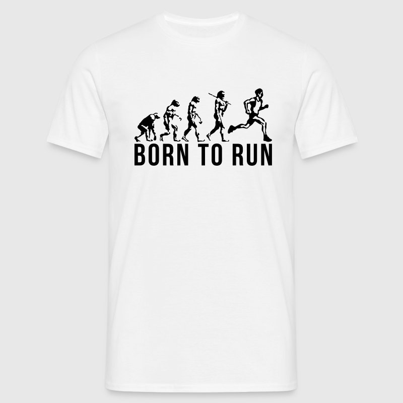 running evolution born to run - Men's T-Shirt