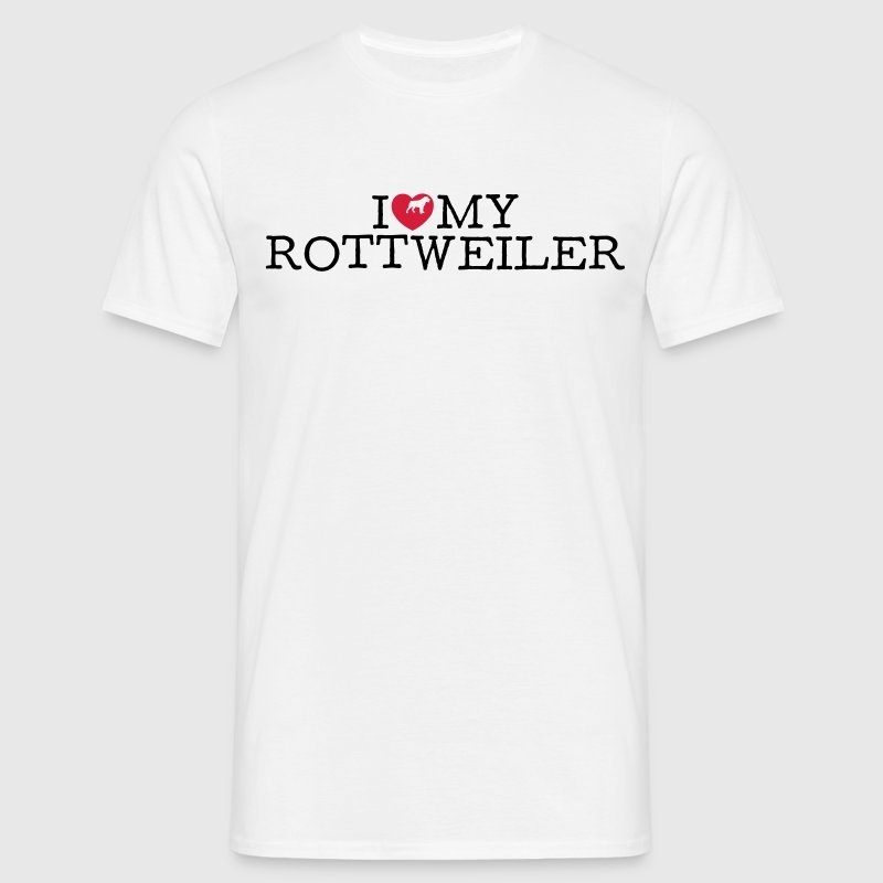 i love my rottweiler - Men's T-Shirt