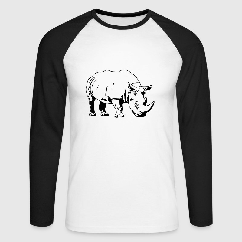 Rhino Long sleeve shirts - Men's Long Sleeve Baseball T-Shirt