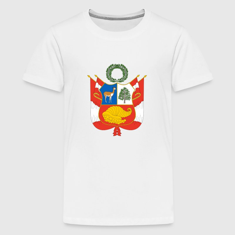 National Coat of Arms of Peru Shirts - Teenage Premium T-Shirt
