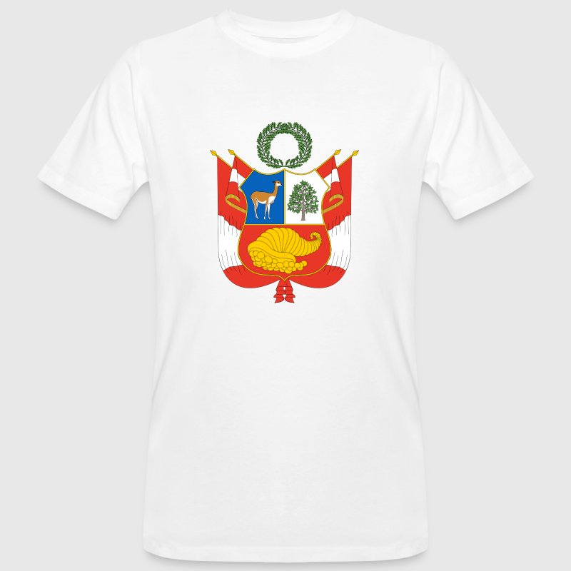 National Coat of Arms of Peru T-Shirts - Men's Organic T-shirt