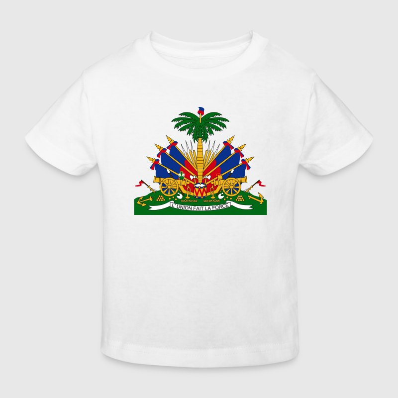 Armoiries nationales d Haïti Tee shirts - T-shirt bio Enfant