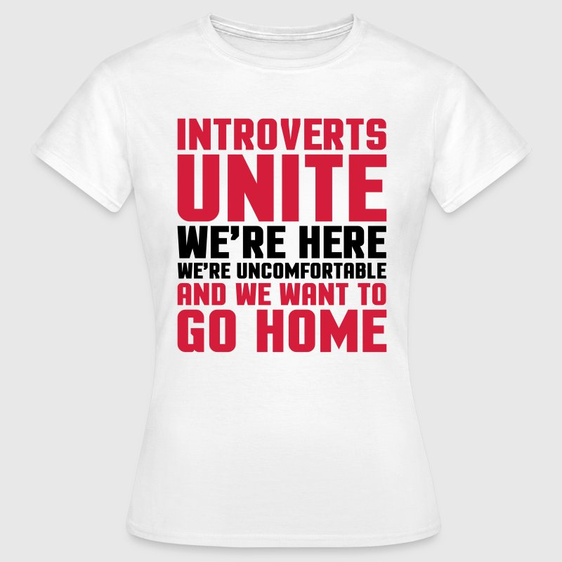 Introverts Unite  T-shirts - Dame-T-shirt