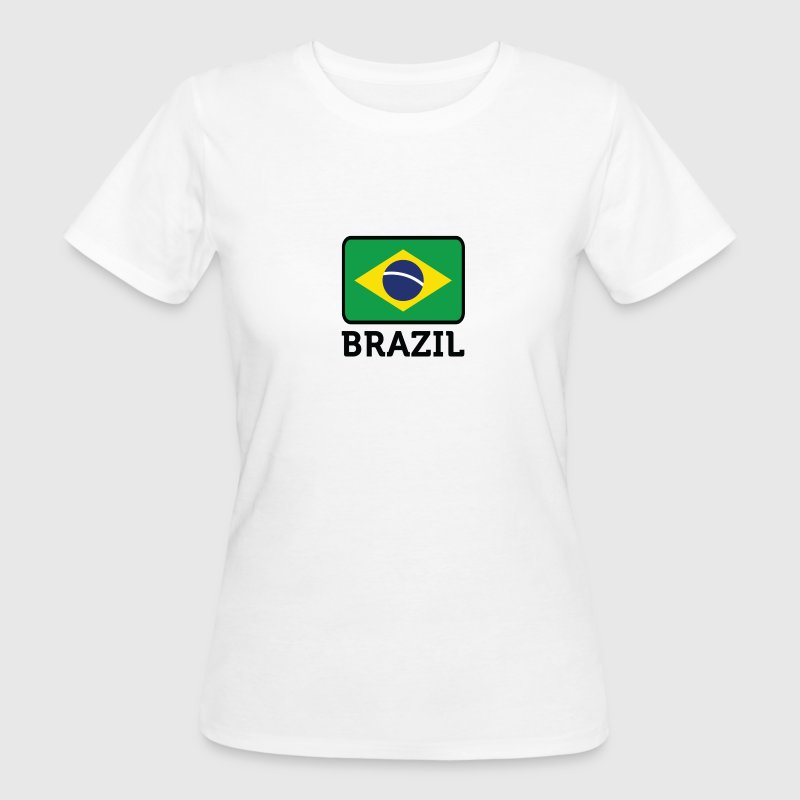Nationella flagga Brasilien T-shirts - Ekologisk T-shirt dam