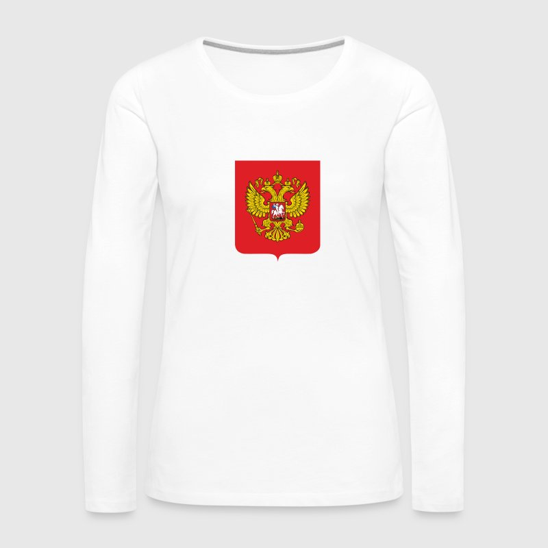 National Coat of Arms i Russland Skjorter med lange armer - Premium langermet T-skjorte for kvinner