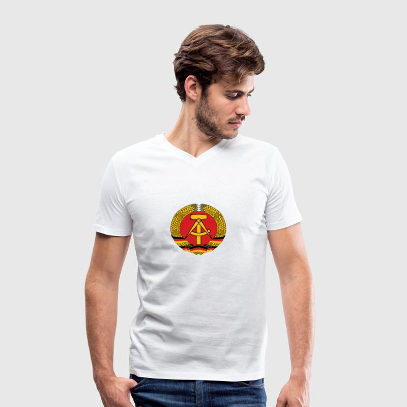 National Coat of Arms of East Germany T-Shirts - Men's Organic V-Neck T-Shirt by Stanley & Stella