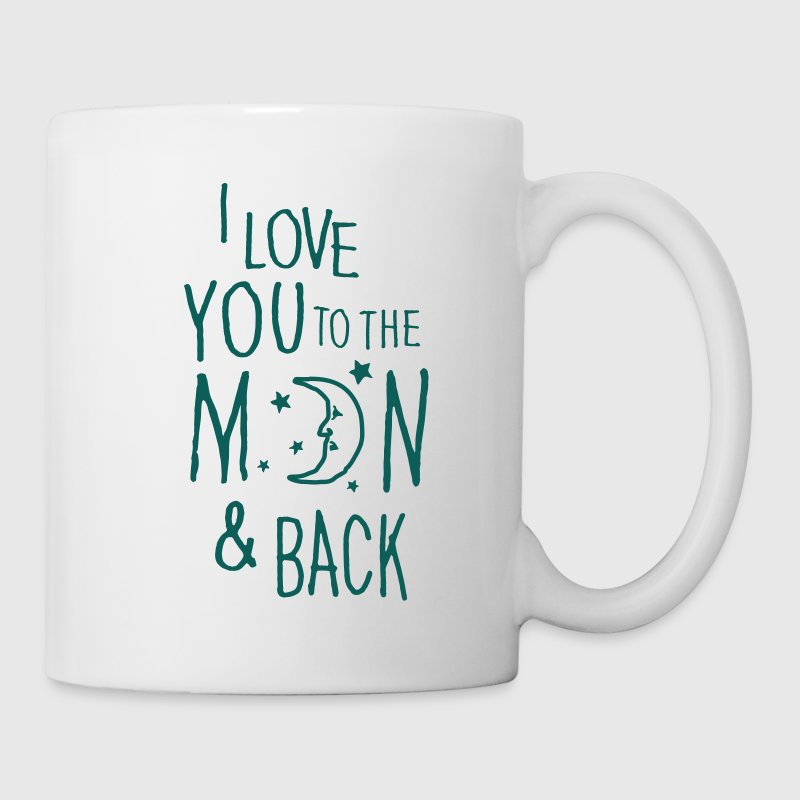 Blanco I LOVE YOU TO THE MOON & BACK Tazas y accesorios - Taza
