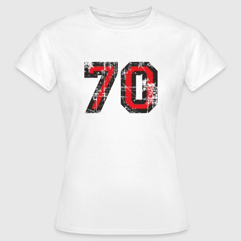 Number 70 Seventy 70th Birthday Design (EU) T-Shirts - Women's T-Shirt