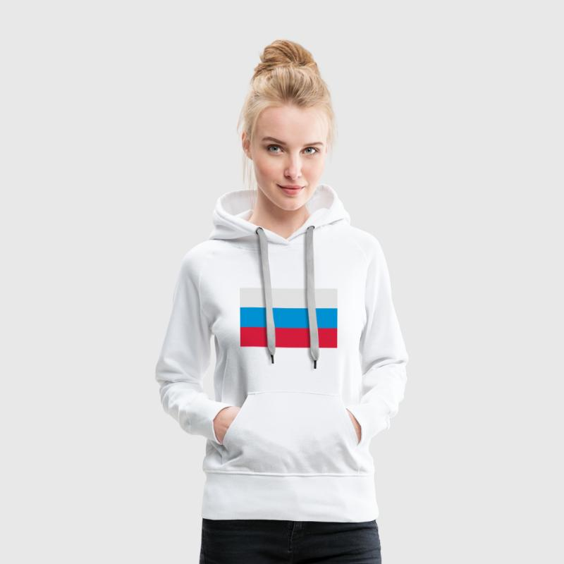 Drapeau national de la Russie Sweat-shirts - Sweat-shirt à capuche Premium pour femmes