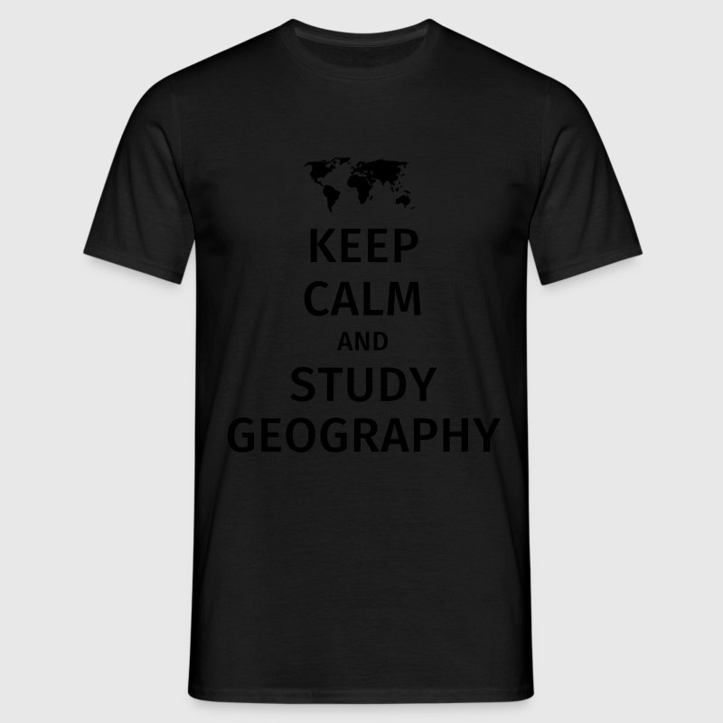keep calm and study geography T-shirts - Mannen T-shirt