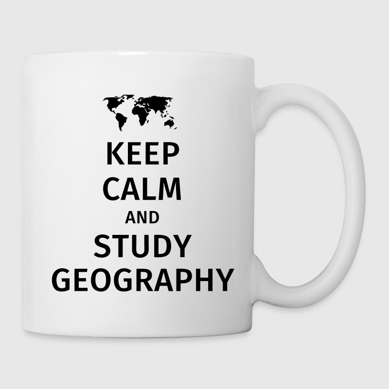 keep calm and study geography Bouteilles et Tasses - Tasse