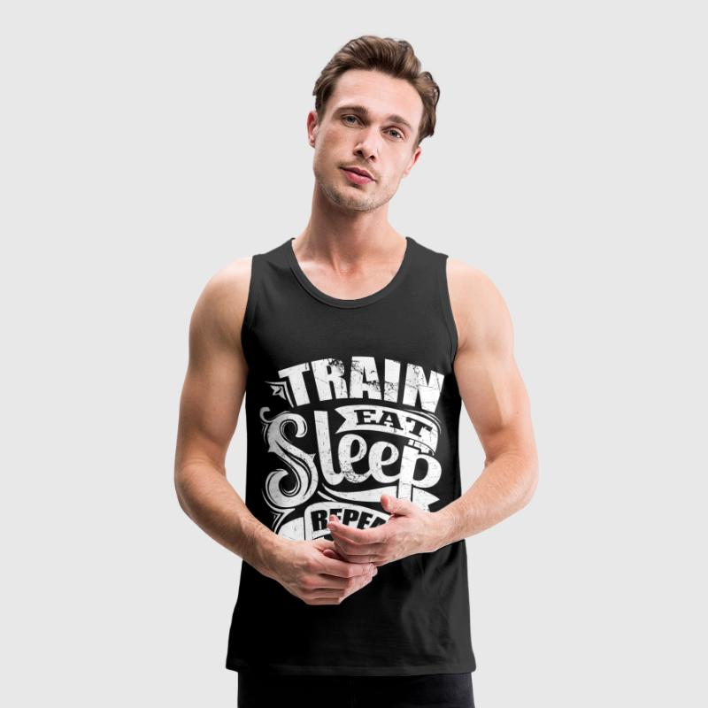 Train Gym Sports Quotes - Men's Premium Tank Top