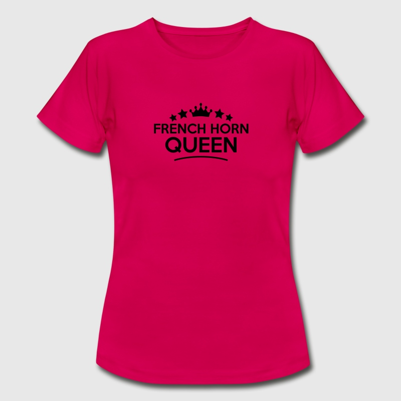 french horn queen stars - Frauen T-Shirt