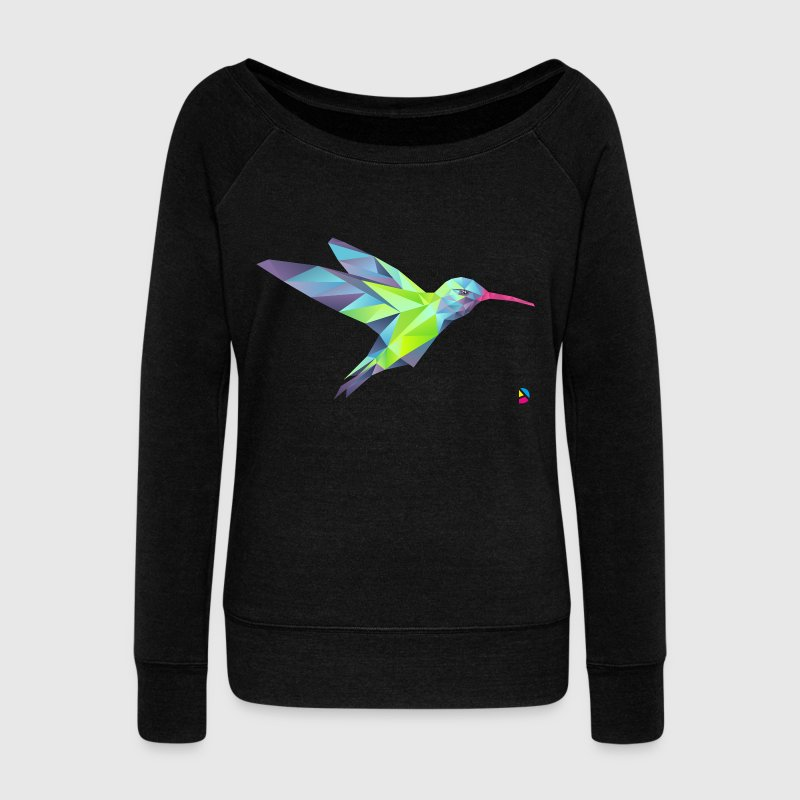 AD Geometric Hummingbird Hoodies & Sweatshirts - Women's Boat Neck Long Sleeve Top