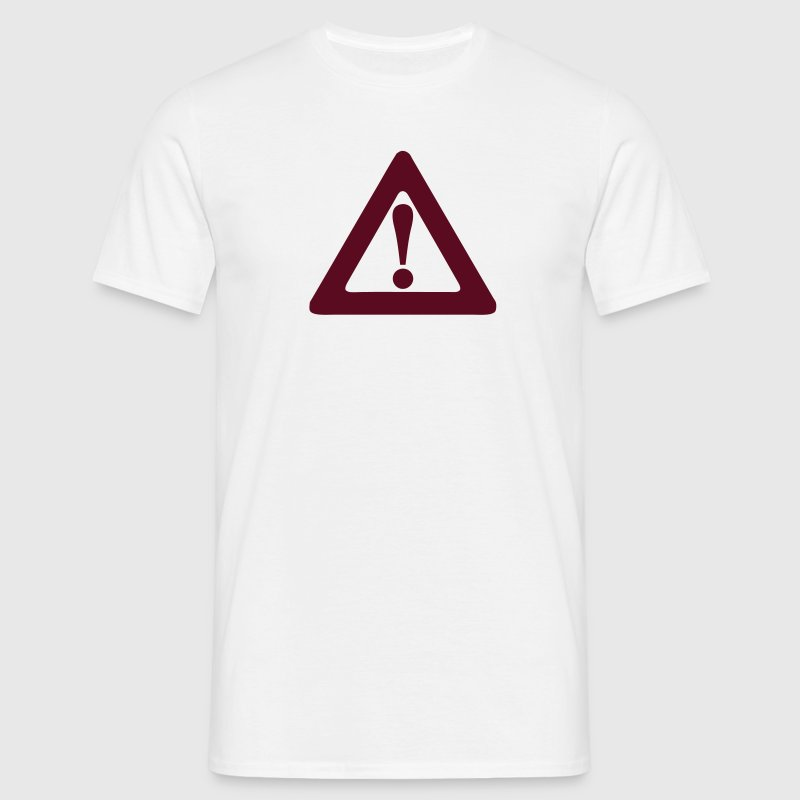 panneau danger icone exclamation triangl Tee shirts - T-shirt Homme