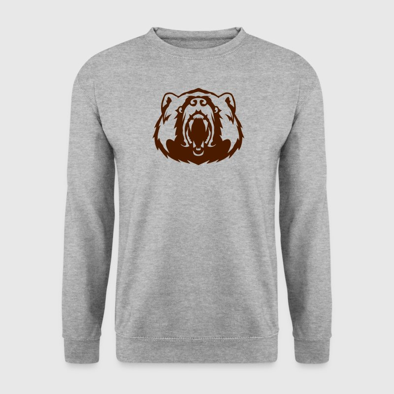 ours tete animal mechant 17062 Sweat-shirts - Sweat-shirt Homme