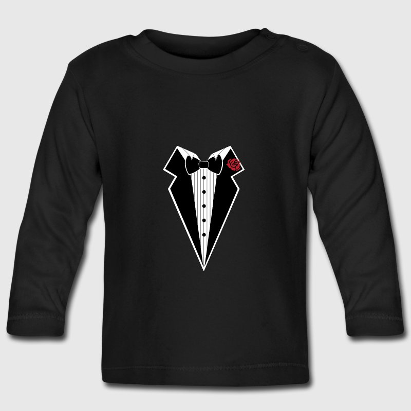 TUXEDO TUXEDO SUIT SHIRT Long Sleeve Shirts - Baby Long Sleeve T-Shirt