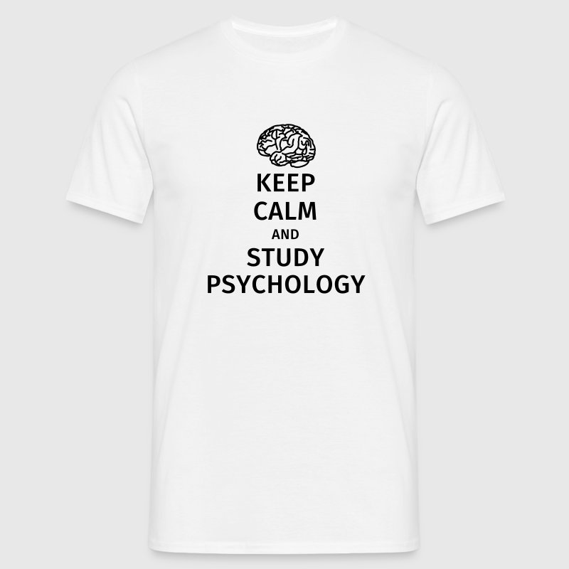 keep calm and study psychology Tee shirts - T-shirt Homme