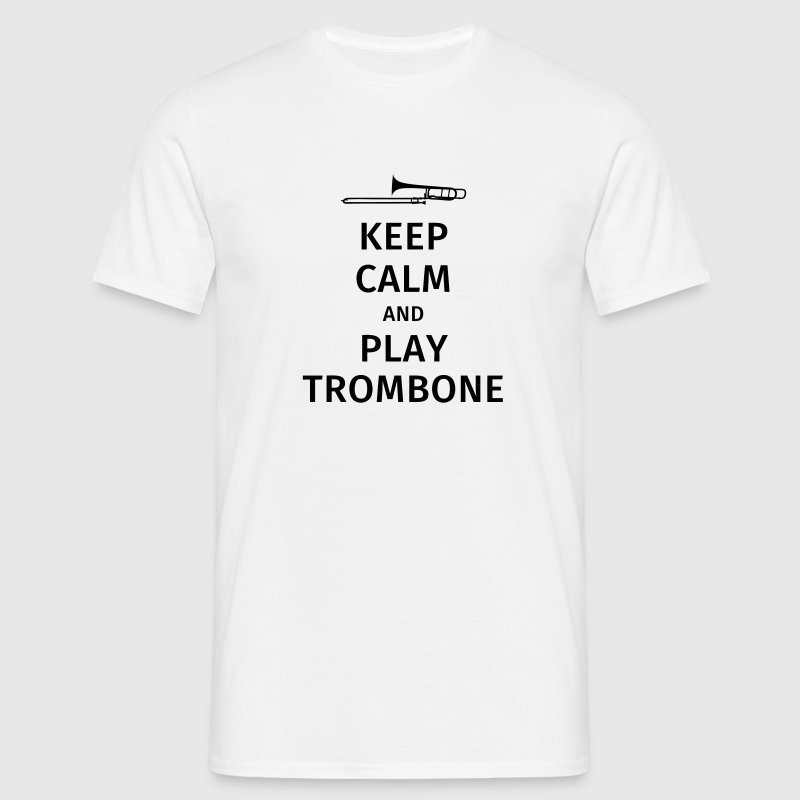 keep calm and play trombone Camisetas - Camiseta hombre