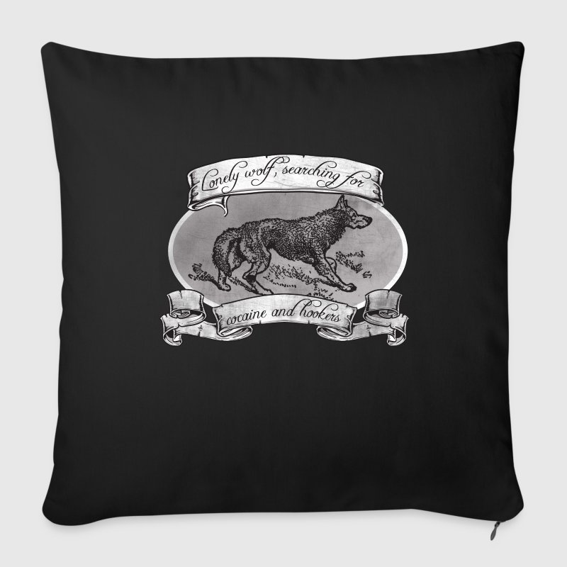 LONE WOLF - SEARCHING FOR HOOKERS AND COCAINE Other - Sofa pillow cover 44 x 44 cm