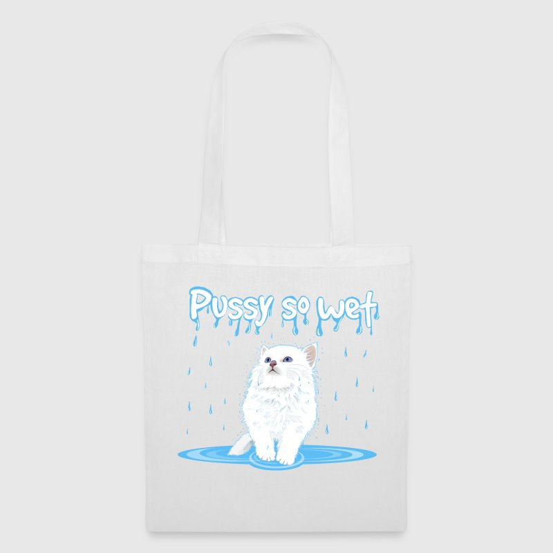 WET PUSSY - WET CAT Bags & Backpacks - Tote Bag