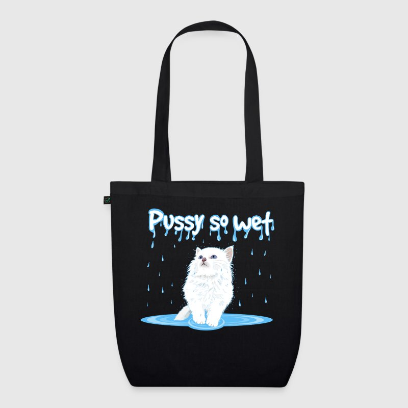 WET PUSSY - WET CAT Bags & Backpacks - EarthPositive Tote Bag