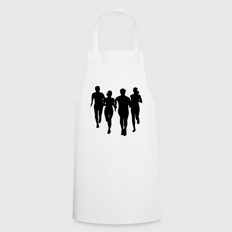 run, running - people runnings  Aprons - Cooking Apron