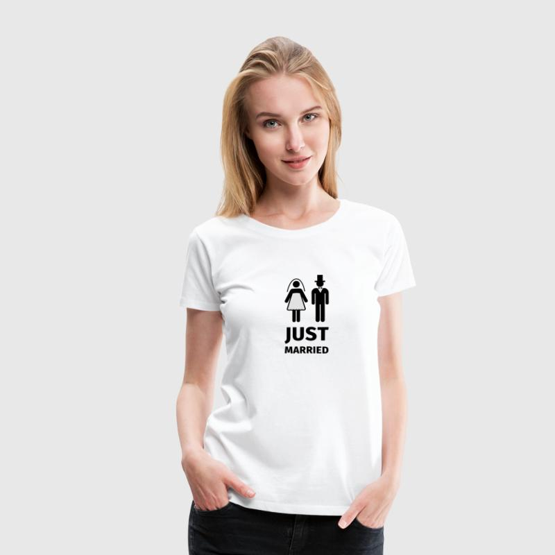 just married Camisetas - Camiseta premium mujer