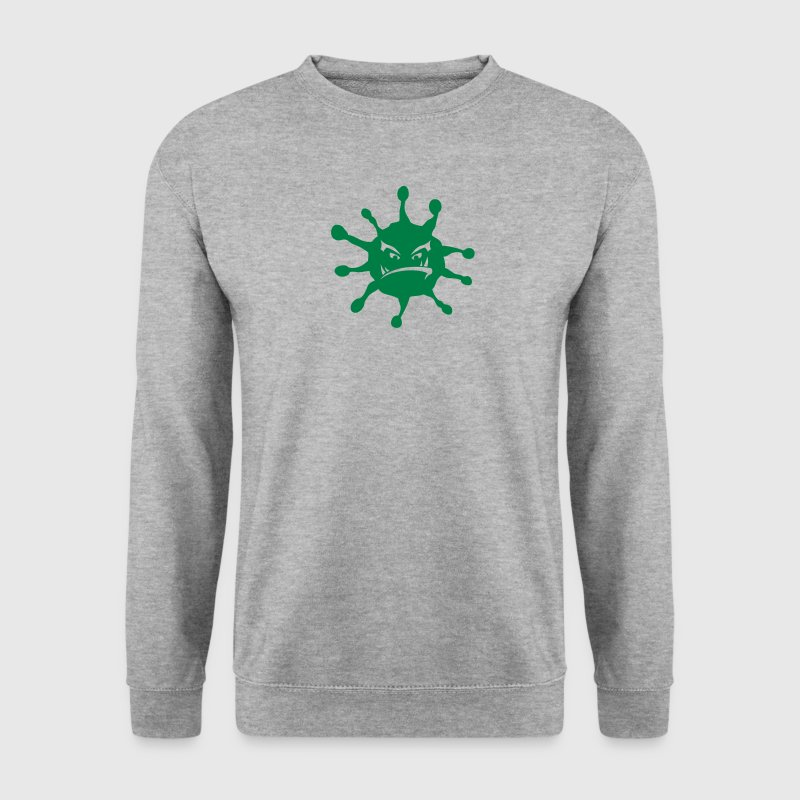 virus maladie icone mechant Sweat-shirts - Sweat-shirt Homme