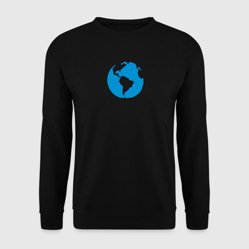 planete terre bleu icone 2805 Sweat-shirts - Sweat-shirt Homme