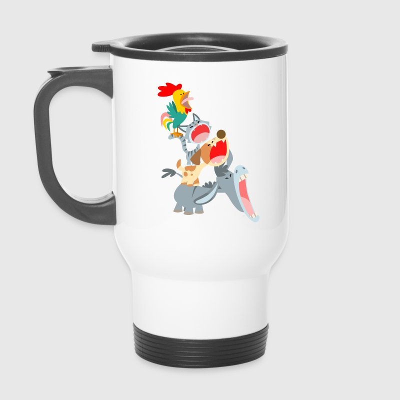 Bremen Town Musicians by Cheerful Madness!! Mugs & Drinkware - Travel Mug