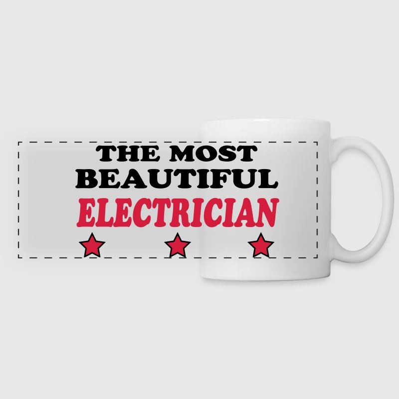 The most beautiful electrician 222 Mugs & Drinkware - Panoramic Mug