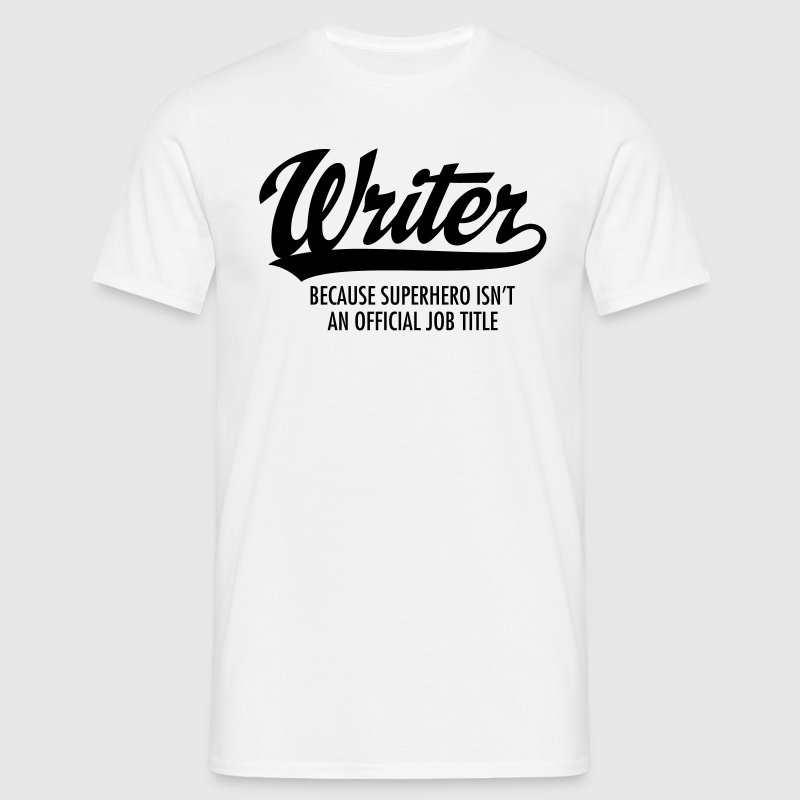 Writer - Superhero T-shirts - Herre-T-shirt