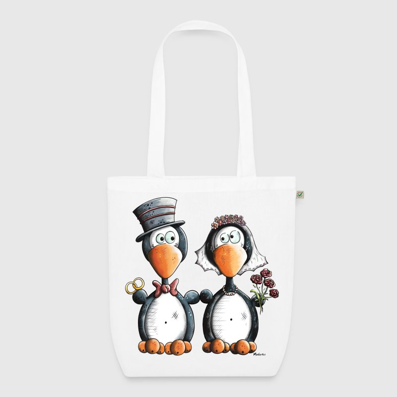 Penguin Wedding Bags & Backpacks - EarthPositive Tote Bag