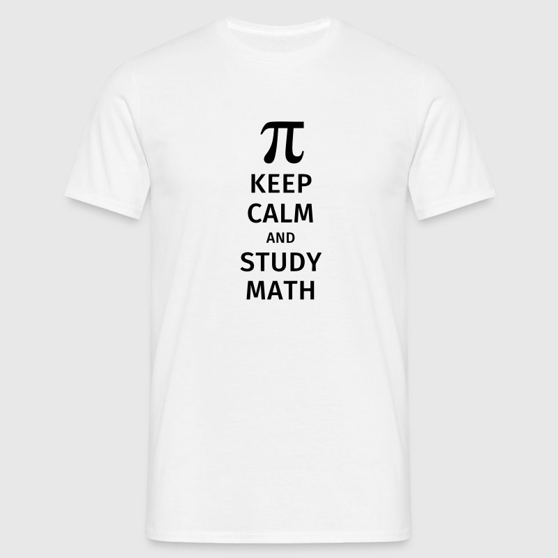 keep calm and study math T-shirts - Herre-T-shirt