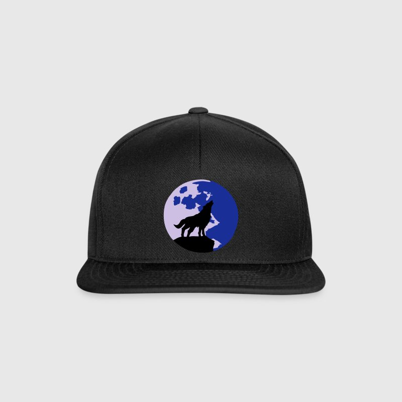 wolf and full moon Casquettes et bonnets - Casquette snapback