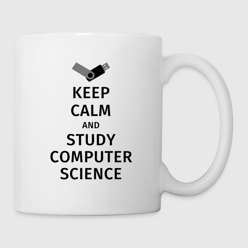 keep calm and study computer science Tazas y accesorios - Taza