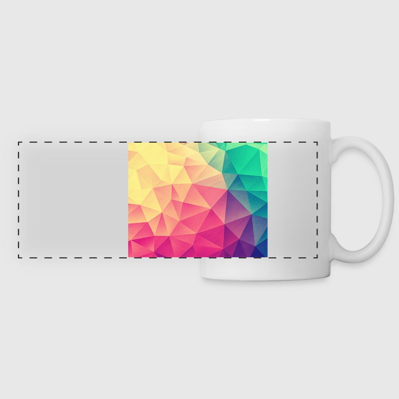 Abstract Triangles / Geometry Color - Phone Case Tazas y accesorios - Taza panorámica