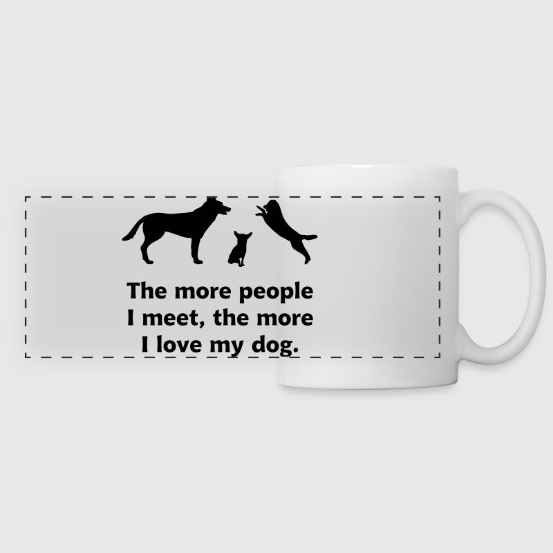 dog people, hund, hunde Mugs & Drinkware - Panoramic Mug