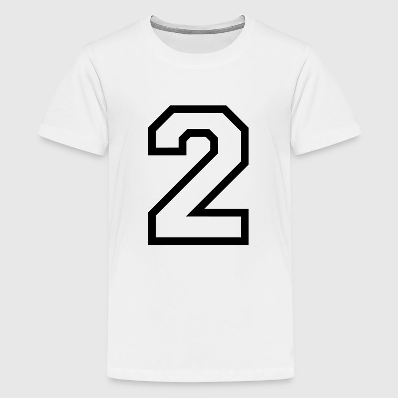 THE NUMBER TWO, 2 Shirts - Teenage Premium T-Shirt
